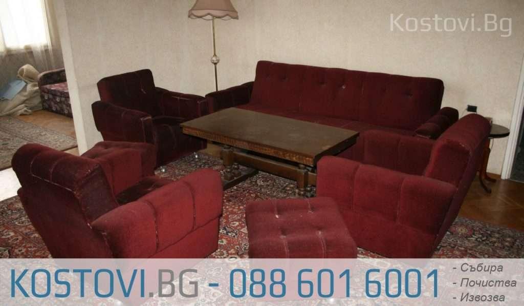 Взимане и изнасяне на мебели от етаж