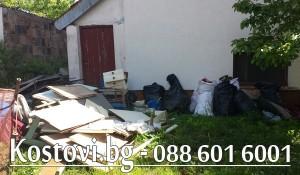 Почистване на двор от боклуци в София