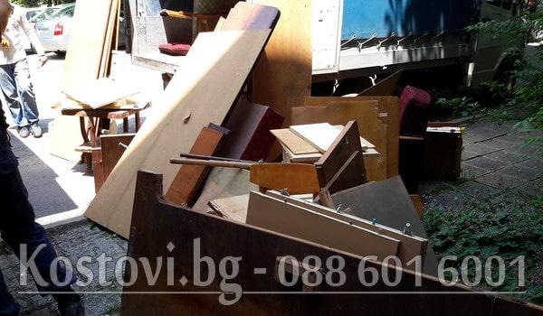 демонтаж с изхвърляне на обзавеждане