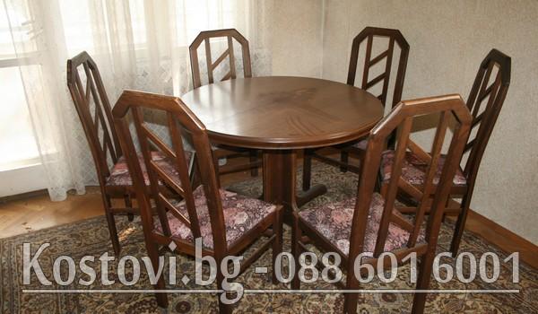 Дарение на маса със столове